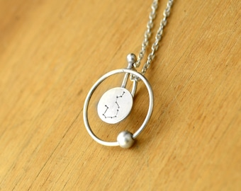 Astral return necklace - Sterling Silver - Zodiac