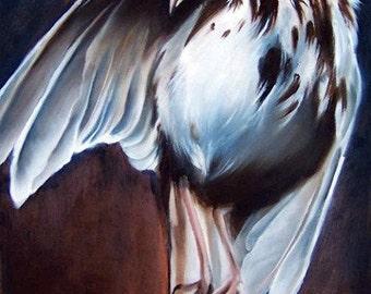 Damnation Open Edition fine art print, death and deliverance, mocking bird