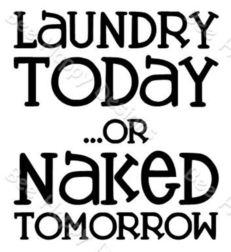 Laundry Today Or Naked Tomorrow SVG   M14F14