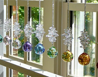 """Crystal Ball Suncatcher Window Prism Made Entirely with Swarovski Crystals, Choose From 14 Colors  """"CATHERINE"""" by Heartstrings by Morgan"""
