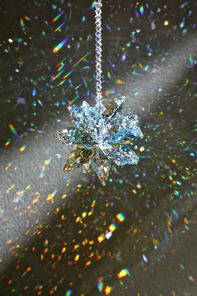 1a197fee7 Large Crystal Cluster Suncatcher Swarovski Aurora Borealis | Etsy