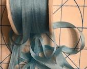 4mm Aqua blue 5 yards silk ribbon