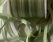 4mm (1 8 quot wide) variegated moss silk ribbon. 3 yard put-up