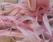 Prom Pink Color 550 7mm silk ribbon 4yards