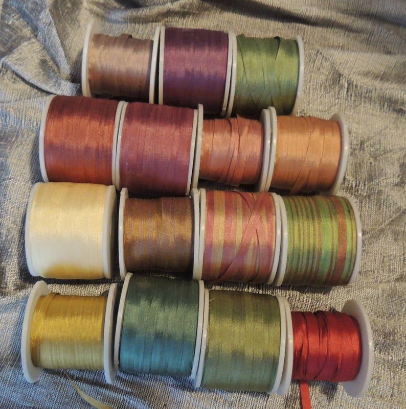 RESERVE for Crazyquilter6547 4mm Silk Ribbon Assortment