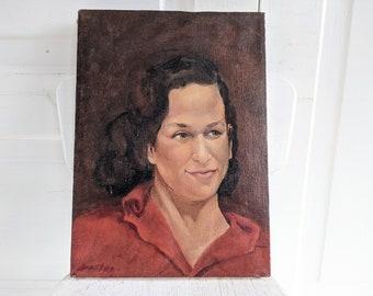 Vintage Woman Portrait Painting, Vintage Portrait, Woman Oil Painting, Vintage Portrait Painting, Vintage Oil Portrait, Brunette Portrait