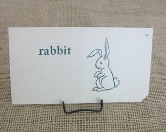 Vintage Flash Card Ephemera Easter Bunny Rabbit Child Retro