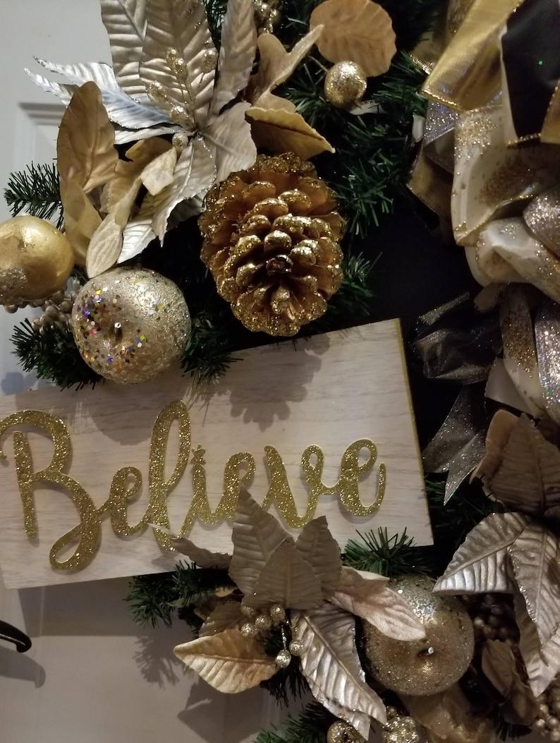 Believe Christmas Wreath Holiday Wreath Winter Wreath Christmas Wreath