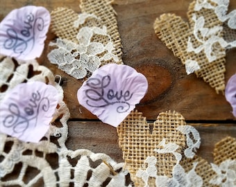 burlap table decor lavender rose petals rustic bridal shower decorations rustic wedding burlap petals for wedding bridal table confetti