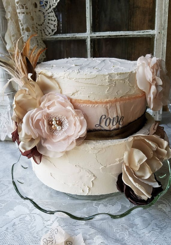 Rustic Cake Topper/Wedding Cake Topper Ideas/Rustic Bridal Shower ...