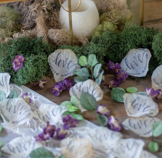 Wedding Table Decor Lavender Wedding Rose Petals Bridal Shower