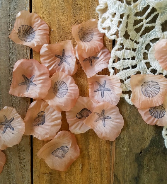 Beach Wedding Decor Coral Wedding Flower Girl Petals Wedding
