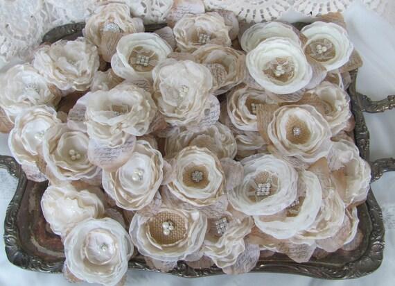 Sackleinen Blumen DIY Hochzeit Bouquet Ideen | Etsy