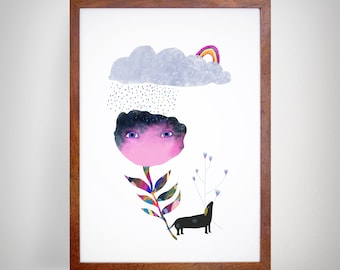 Flower After the Rain - Giclee Print sized A4 or A3