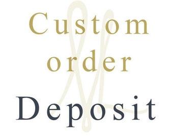 Custom Order Deposit for Michelle Lenáe Jewelry