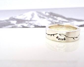 Talisman Mountain Ring, Personalized Animal Spirit Ring, Made to Order