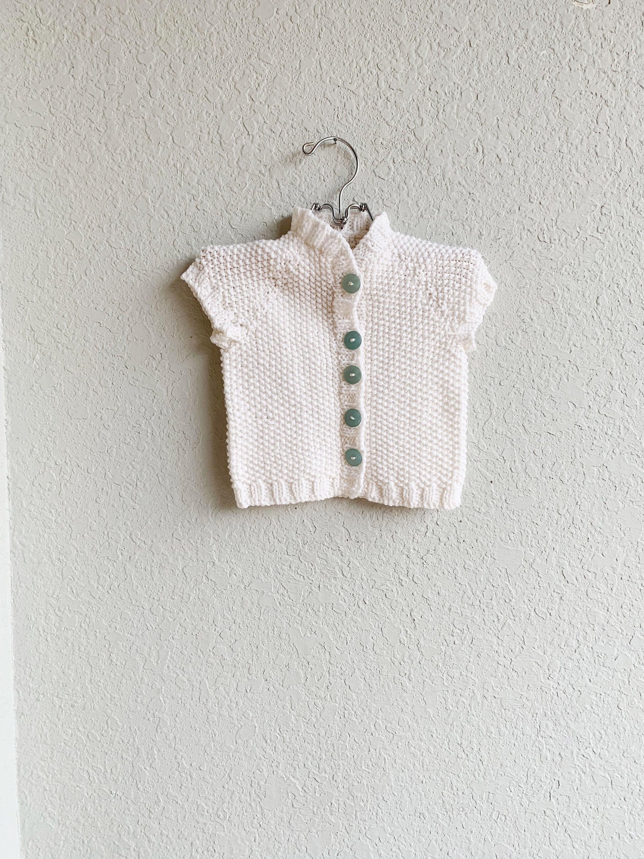 Toddler Sweater Toddler Girl Vest White Sweater Cardigan | Etsy