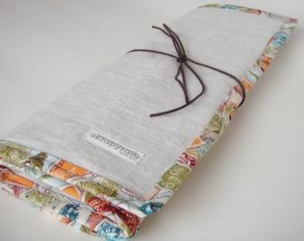 Linen Knitting Needle Case/ Knitting Needle Roll