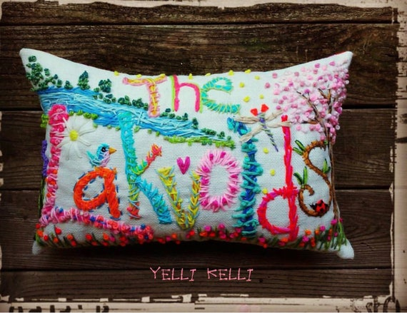 663de18fa70 LARGE Deluxe Bohemian Name Pillow Made To Order YelliKelli