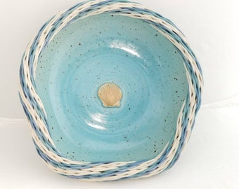 Shell Bowl with Reed Rim