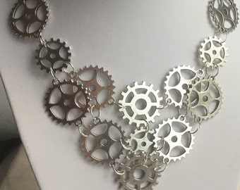Steampunk Gear Necklace, Steampunk Jewelry, Gear Jewelry