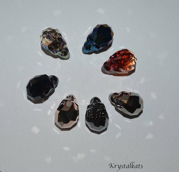 e49bf114703b5 Large 19mm Swarovski Crystal Skull Beads, Many Colors, Skull Bead, Crystal,  Make Skull Jewelry, Make Skull Suncatchers, Suncatcher, Skull