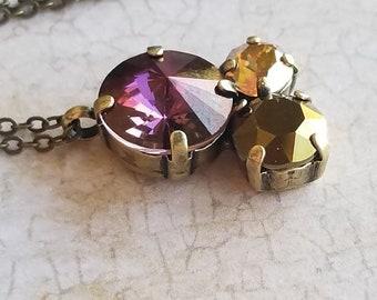 Pendant necklace / swarovski necklace / crystal pendant / crystal necklace / bridal gifts / bridesmaids gifts / gifts /