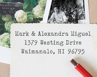 Self Inking Address Stamp - Custom Address Stamp - Return Address Stamp - Housewarming Gift - Wedding Gift - Typewriter Style - 1009