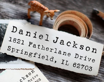 Custom Address Stamp, Self Inking Rubber Stamp, iStamp, Pre Inked, Calligraphy Stamp, Personalized Gift - 1072