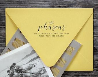 Address Stamp, Self Inking Address Stamp, Custom Address Stamp, Return Address Stamp, Wedding address stamp - 3001