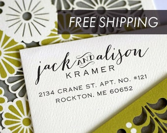 Return Address Stamp, Self Inking Address Stamp, Address Stamp, Wedding address stamp, Custom Address Stamp - 3001