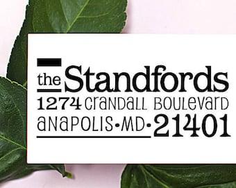 Self Inking Address Stamp - Custom Address Stamp - Pre Inked - Personalized Gift - 1044