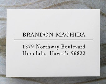 Self Inking Address Stamp, Address Stamp, Custom Address Stamp, Return Address Stamp, Personalized Gift, Rubber Stamp - 1015