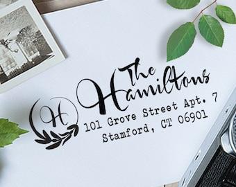 Custom Address Stamp, Return Address Stamp, Wedding Address Stamp, Self Inking Address Stamp, Monogram Stamp, Self Inking Stamp - 1040
