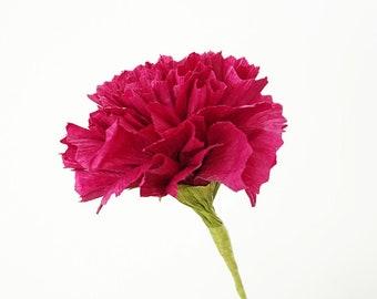 Classic Carnation: Handmade Crepe Paper Flower