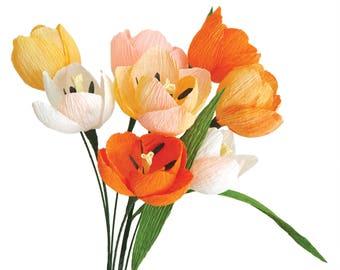 Spring Tulip: Handmade Crepe Paper Flower