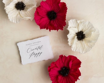 Anemone handmade crepe paper flower etsy oriental poppyhandmade crepe paper flower mightylinksfo