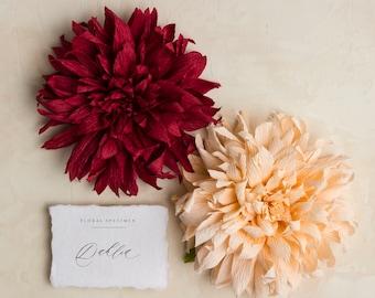Dahlia: Handmade Crepe Paper Bloom