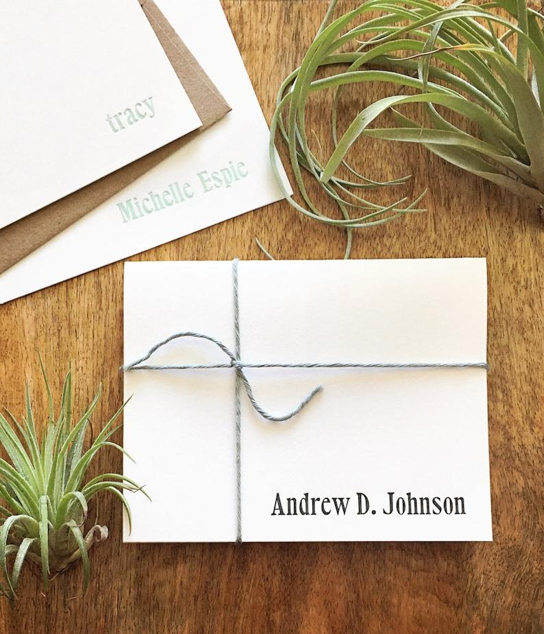 Personalized full name letterpress stationery image 0