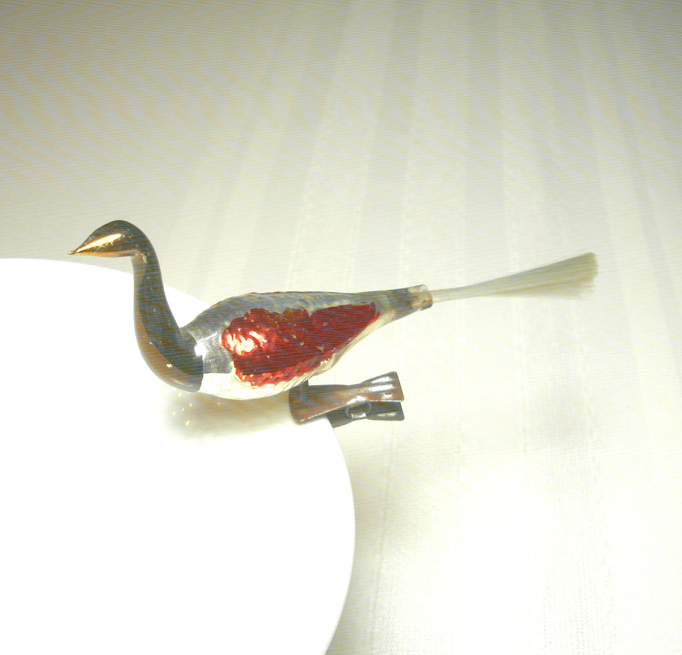 Vintage Clip On Bird Ornament 1950s Antique Mercury Glass