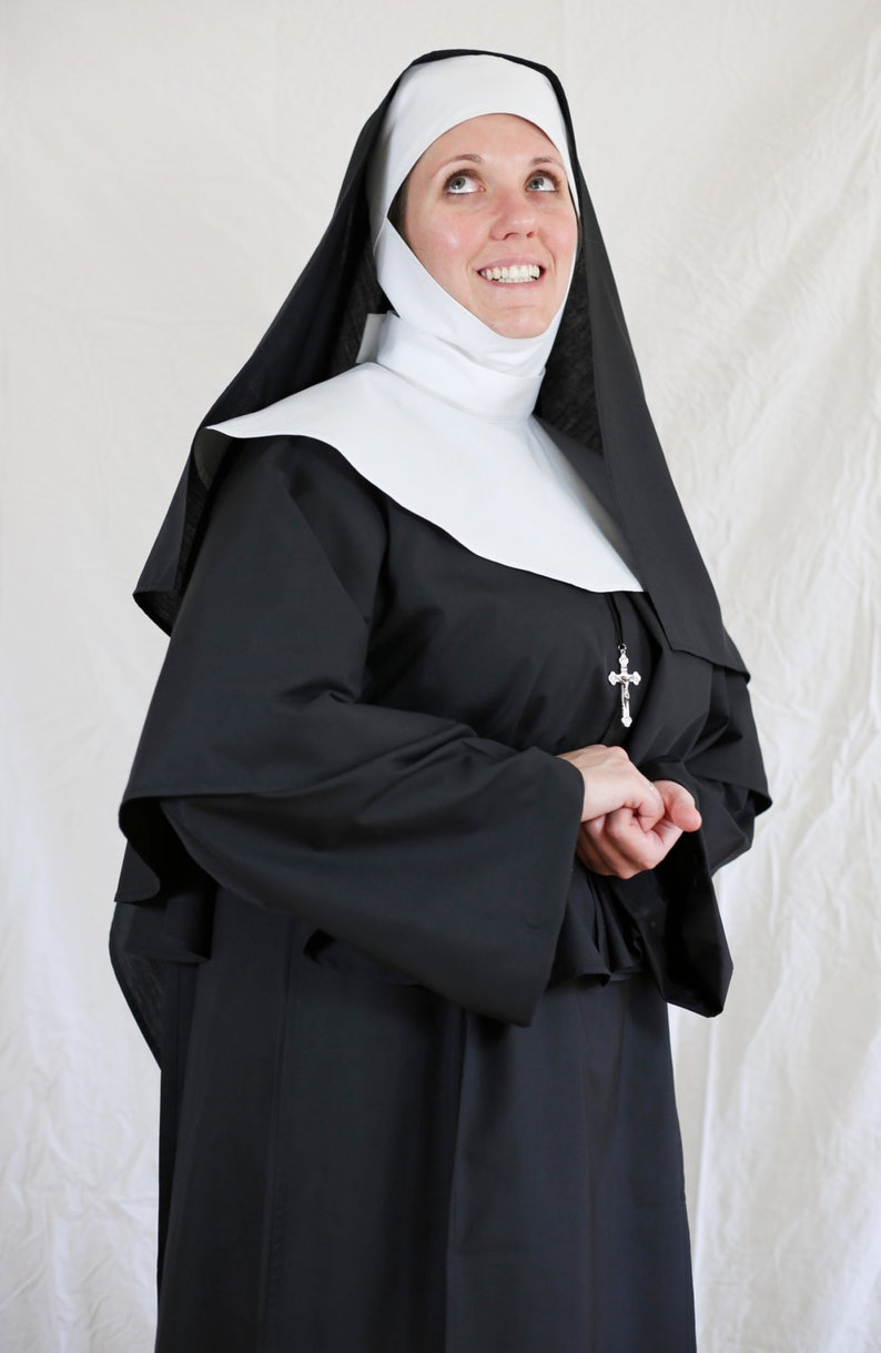 Authentic Looking 7 Piece Nun Costume Etsy