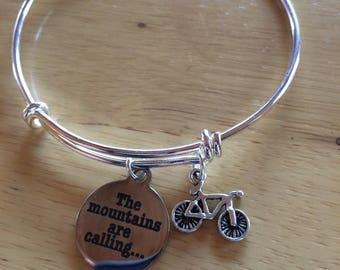 Mountain Biking Charm Bracelet