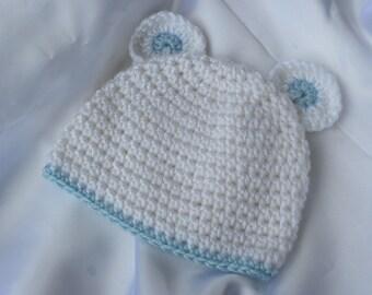 Häkeln Sie Bunny Mütze Häkeln Sie Babymütze Baby Mütze Mit Etsy