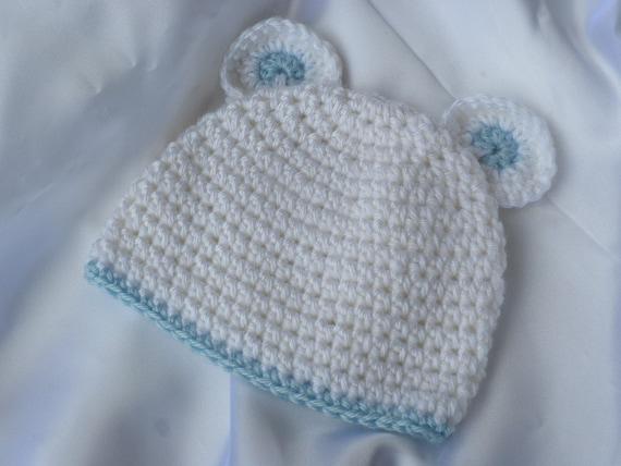Crochet Baby Hat, Crochet Baby Boy Hat, Crochet Hat with Ears, Photo Prop  Baby Hat, Crochet Baby Beanie, Crochet Mouse Hat, Baby Boy Beanie