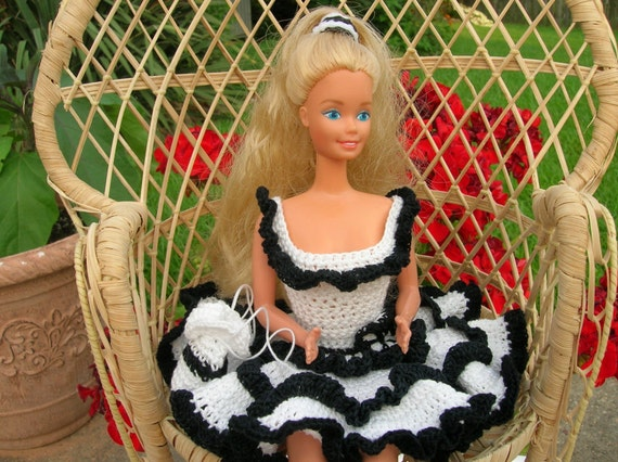 Gehäkelte Barbie Puppe Kleid Puppe Barbie Kleid Barbie Etsy