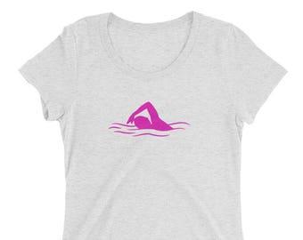 Swimmer Chick Women's Triblend Short Sleeve Tee
