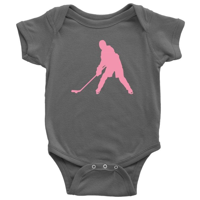 Ice Hockey Chick Infant Bodysuit Baby Bodysuit