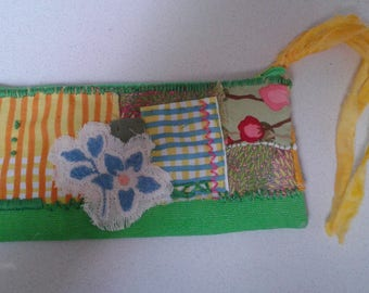 Patchwork Pouch - Greens and Yellows