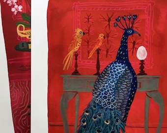 LARGE The Peacock Room Print , Victorian interiors, 13 x 19 inches