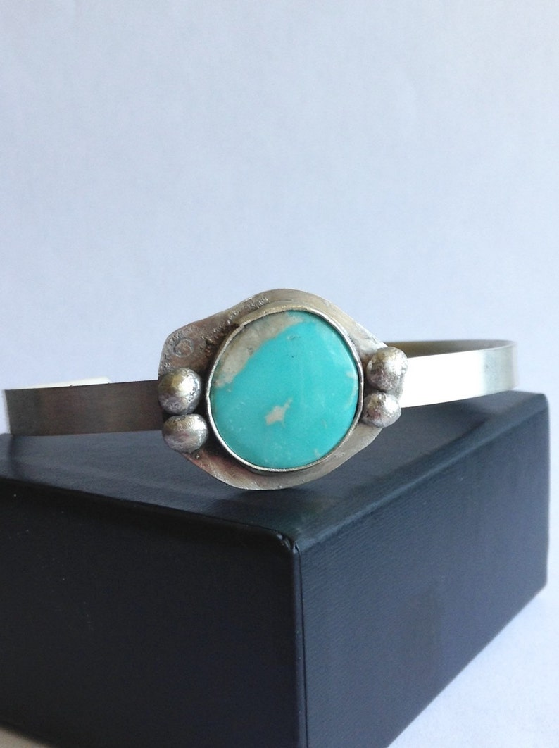 Turquoise Cuff Bracelet Handmade Turquoise Cuff Number 8 Mine Turquoise